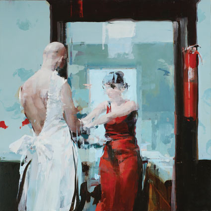Couple with Fire Extinguisher - Alex Kanevsky
